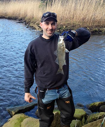 Rivers warm up quickly and attract the first migrating stripers of the season.
