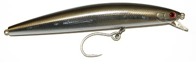 Replace treble hooks with inline single hooks to reduce the damage to schoolies.