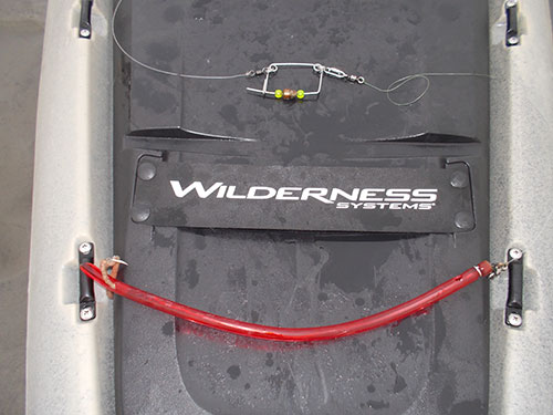 The author's preferred tube-and-worm rig consists of a 15-inch tube, a three-foot leader, and a keel weight.