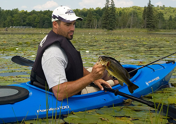 Kayaks are great fishing platforms for backwater areas.