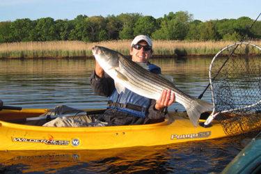 Peconic kayak bass