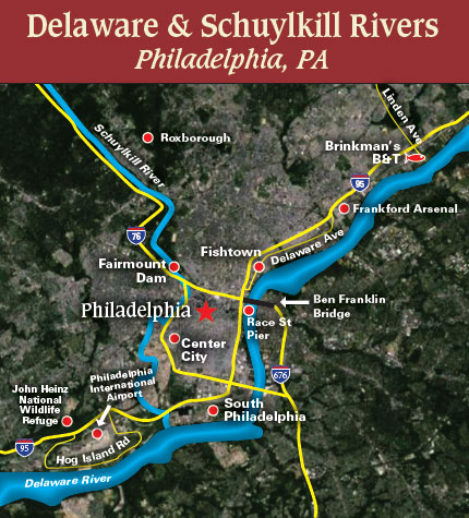 Philly spring run map