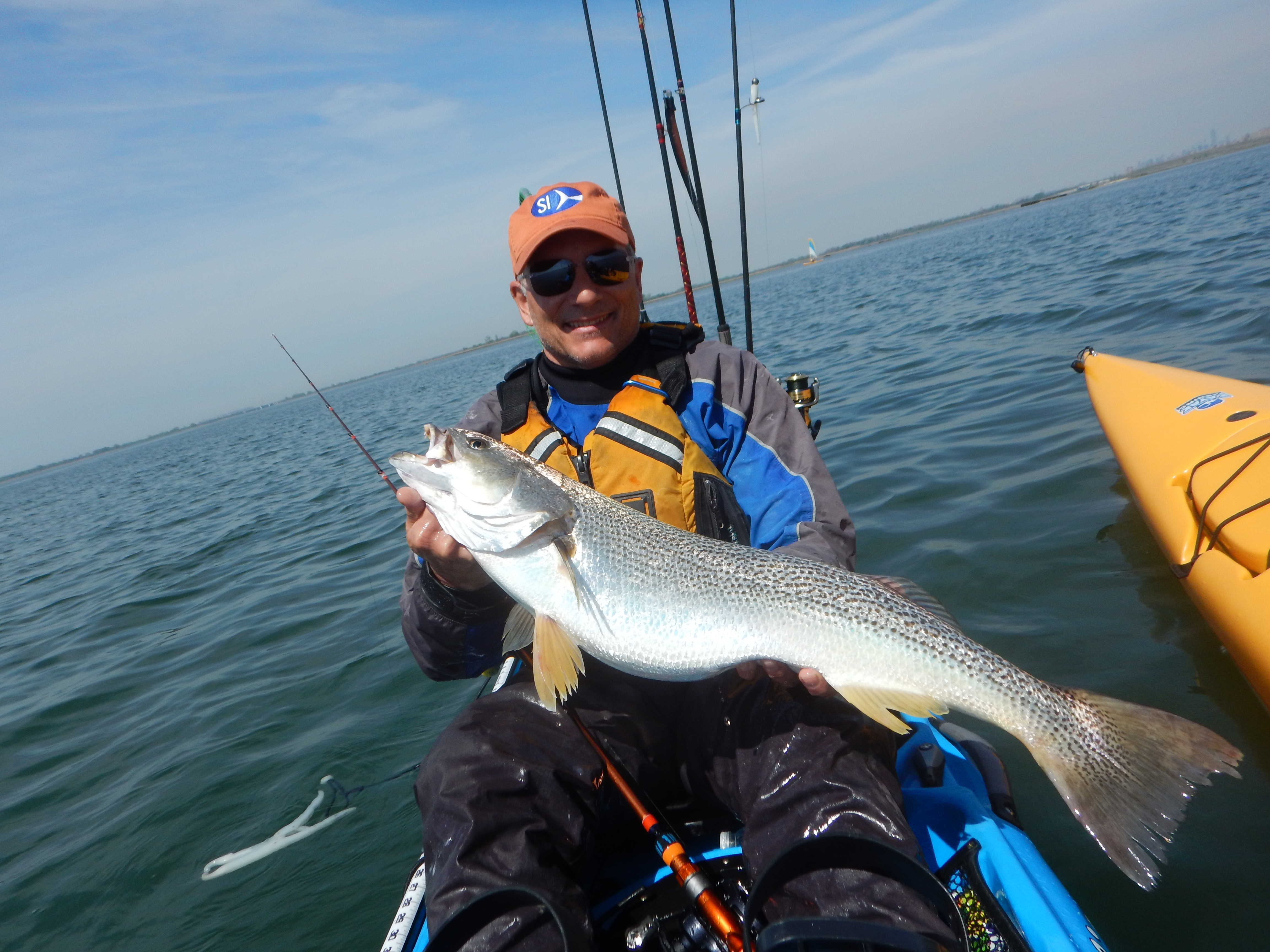 Otw columnists take top honors in j bay kayak fishing for Nj freshwater fishing license