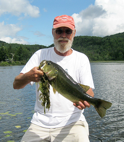 Greg Spicher with a nice largemouth bass from May Pond.  Both May and Ashuelot ponds offer excellent largemouth fishing.