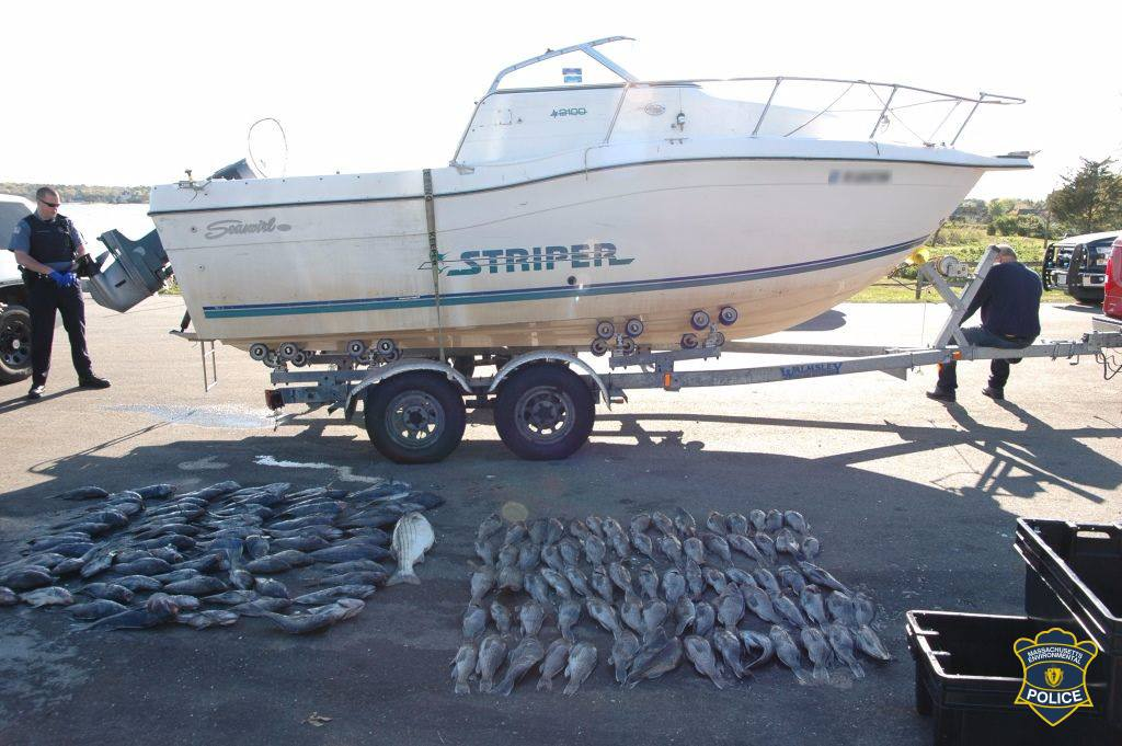 Mass environmental police nab poacher on the water for Cod fishing ri