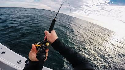 Spiral wrap rod guide for Wrap fishing system