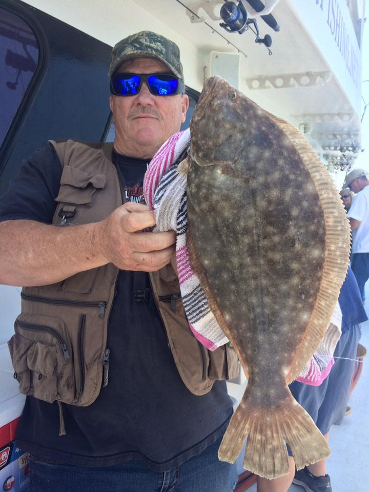 Fishermen aboard the Gambler landed fluke to 4 pounds over the weekend despote tough conditions created by the south winds.