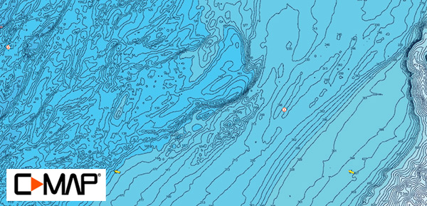 Hot Dog Lump hi-res bathymetric map