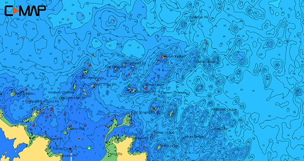 Minot' s Ledge hi-res bathymetric map