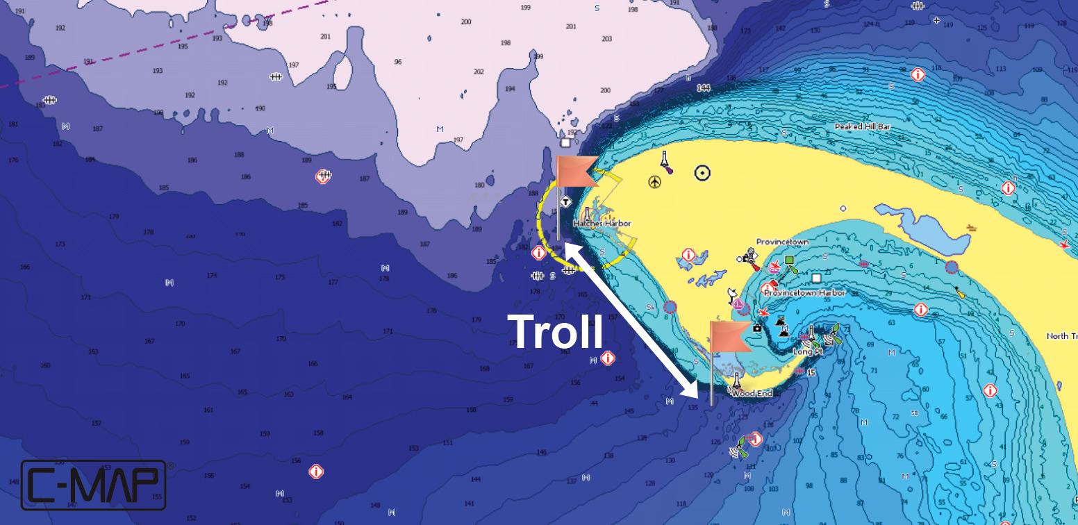 CMAP Featured Hotspot Race Point CMAP - Fishing hotspot maps