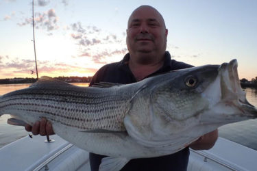 Dave Henault of Ocean State Tackle with a nice bass