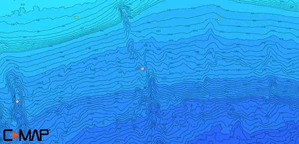 Hi-res bathymetric Fishtails map