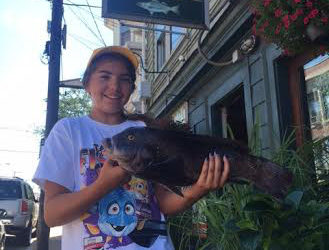 Sophia with a nice 21-inch summer tautog.