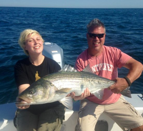 Downeast Charters in Chatham reported a great striper bite on vertical jigs this week.