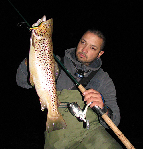 A Rapala floating jointed minnow fooled this beautiful brown trout.