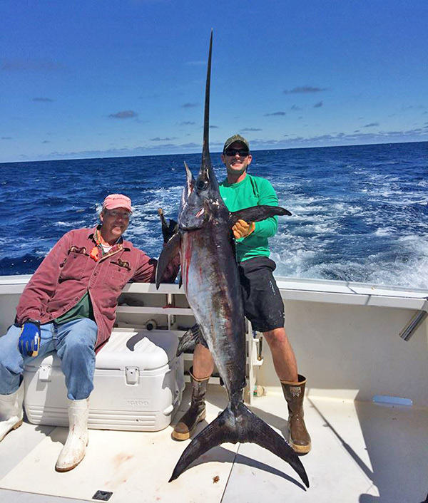 This daytime sword was caught onboard the Skipjack in June 2014 at Atlantis Canyon with Captain Larry Backman.