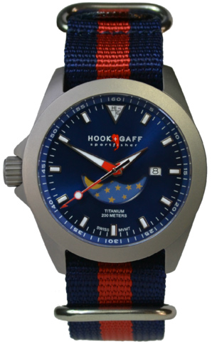 Hook and Gaff Sportfisher II Moonphase Watch