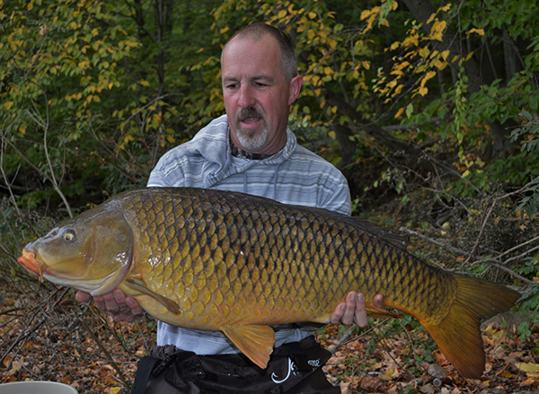 First place winner Phil Nathan with a 30-pound+ carp