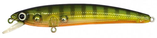 Yo-Zuri's weight-transfer system allow anglers to hit a faraway mark with the Pins Minnow