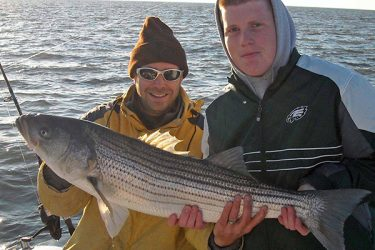 Fishing clams is a reliable way to find striped bass all season long, but these slimy baits produce especially well in the fall.