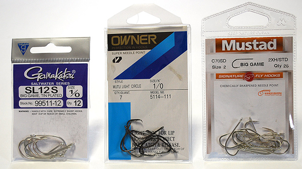 When tying your own teasers, choose a strong, saltwater-grade hook that can handle big fish.