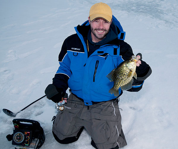 Northland's 1.5-inch Puppet Minnow got the job done on this shallow-water crappie.