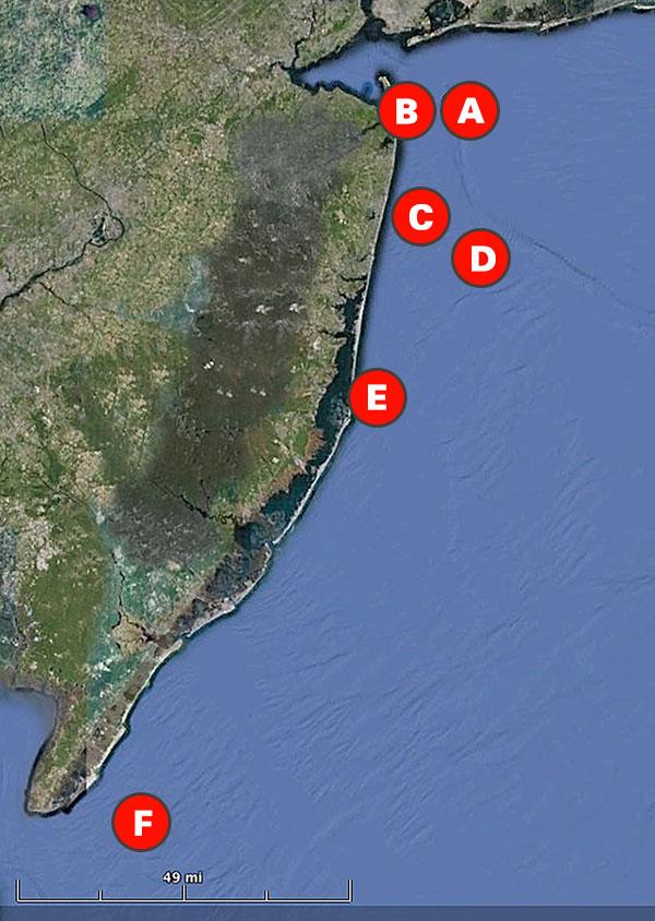 New Jersey Bottom Fishing Hotspots On The Water - Fishing hotspot maps