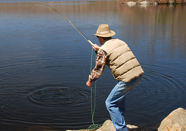 Once you get the feel and rhythm of a featherweight fly rod, casting can be as pleasurable as any other tackle.