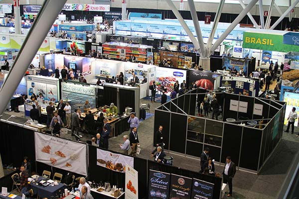 The expo hosts miles of booths