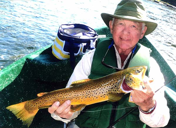 This wild brown trout caught by the author in the fall is sporting its bright spawning coloration.