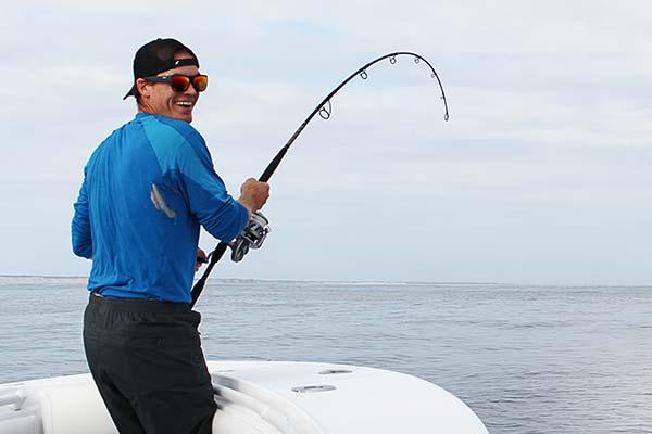 Matt Knittle battling a 150-pound-class bluefin tuna off Cape Cod.