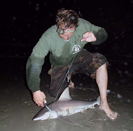 Have a good set of pliers handy so you can get the sharks back to the water fast.