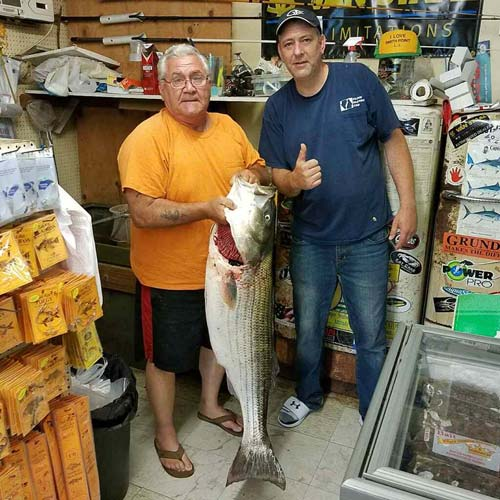 This big 39-pound striper was weighed in as Smith Point this week.