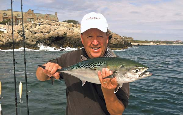 Capt. Jim Barr likes to get close to the shoreline to avoid the run-and-gun skippers