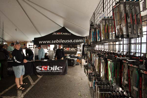 Pure Fishing was ready for the crowds with a huge selection of Sebiles.