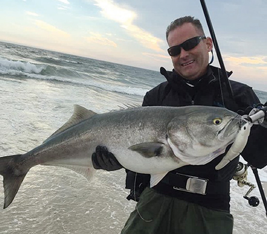 Chris Voorhies with New York's biggest bluefish