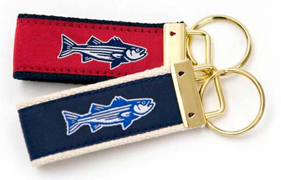 On The Water Outfitters Striper Key Fob