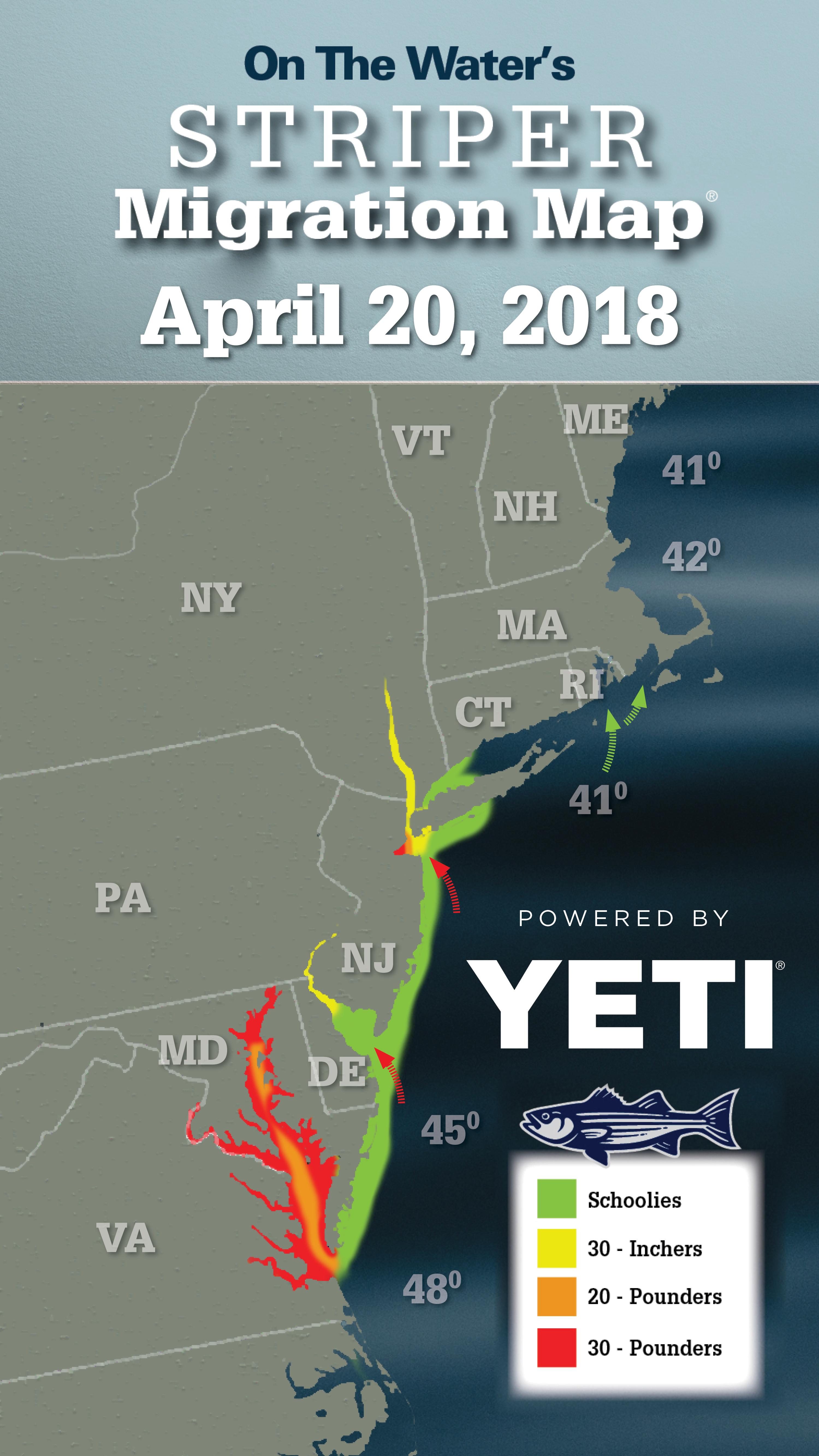 Striper Migration Map April 20