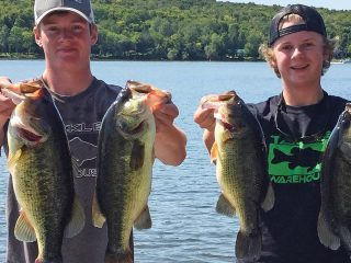 Tournament angler Kaleb Brown and his fishing partner, Cam Chase