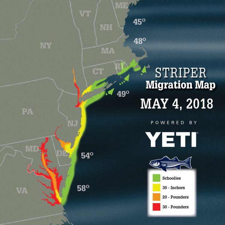 2018 Striper Migration Map Striper Migration Map