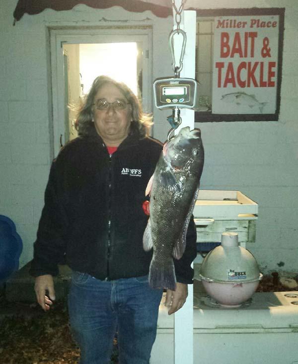James 7.3-pound blackfish