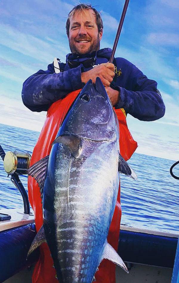 Chris Miller with a nice bluefin tuna.