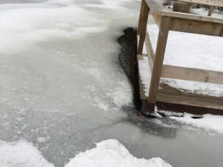 Ice on a Clearfield County impoundment