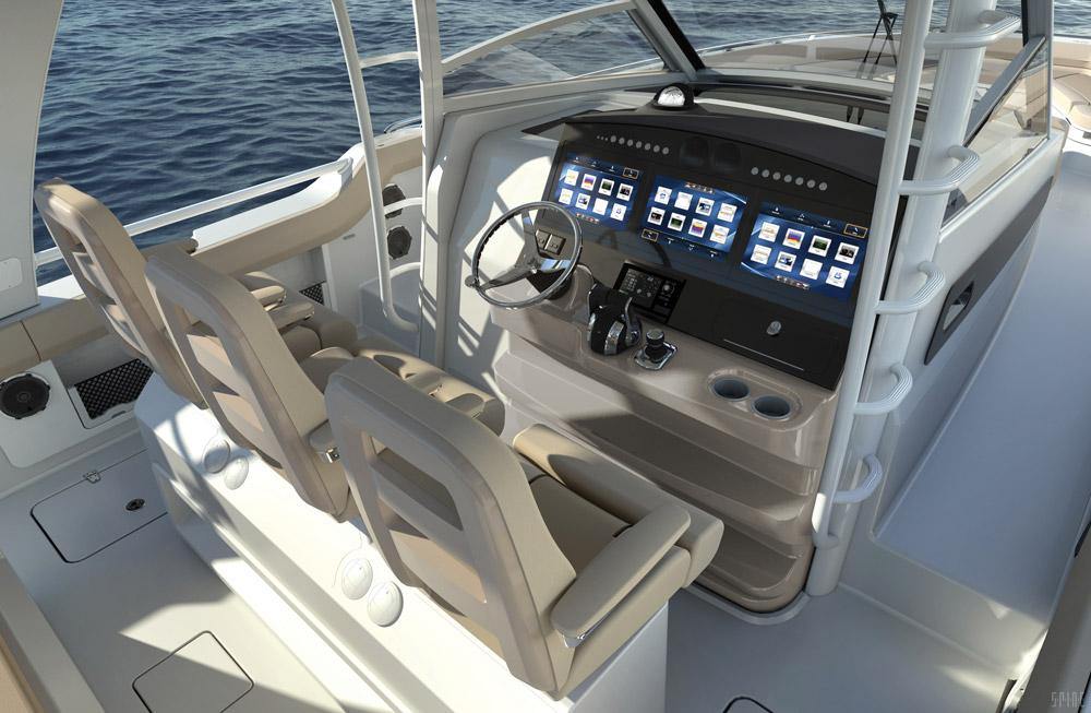 Boston-Whaler 420 Outrage cockpit