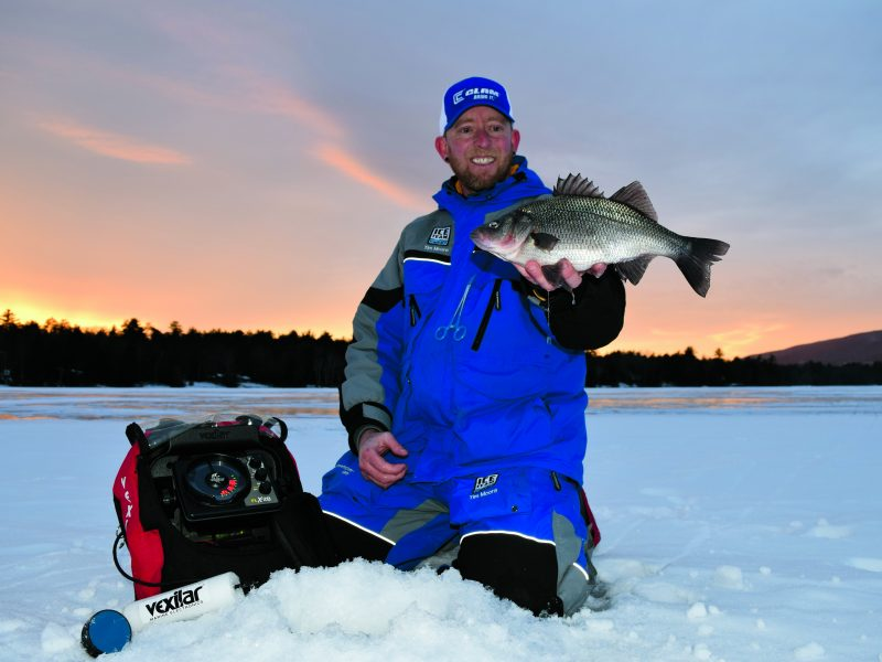 When the ponds and lakes freeze over in New England, ice fishing for white perch delivers fun, fast-paced action on light gear.