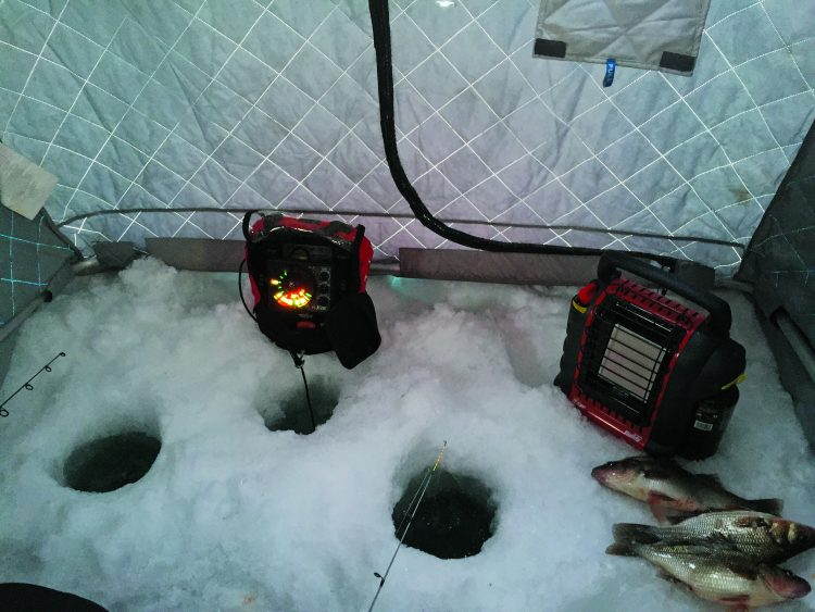 Electronics play a vital role in finding and staying on schools of white perch.