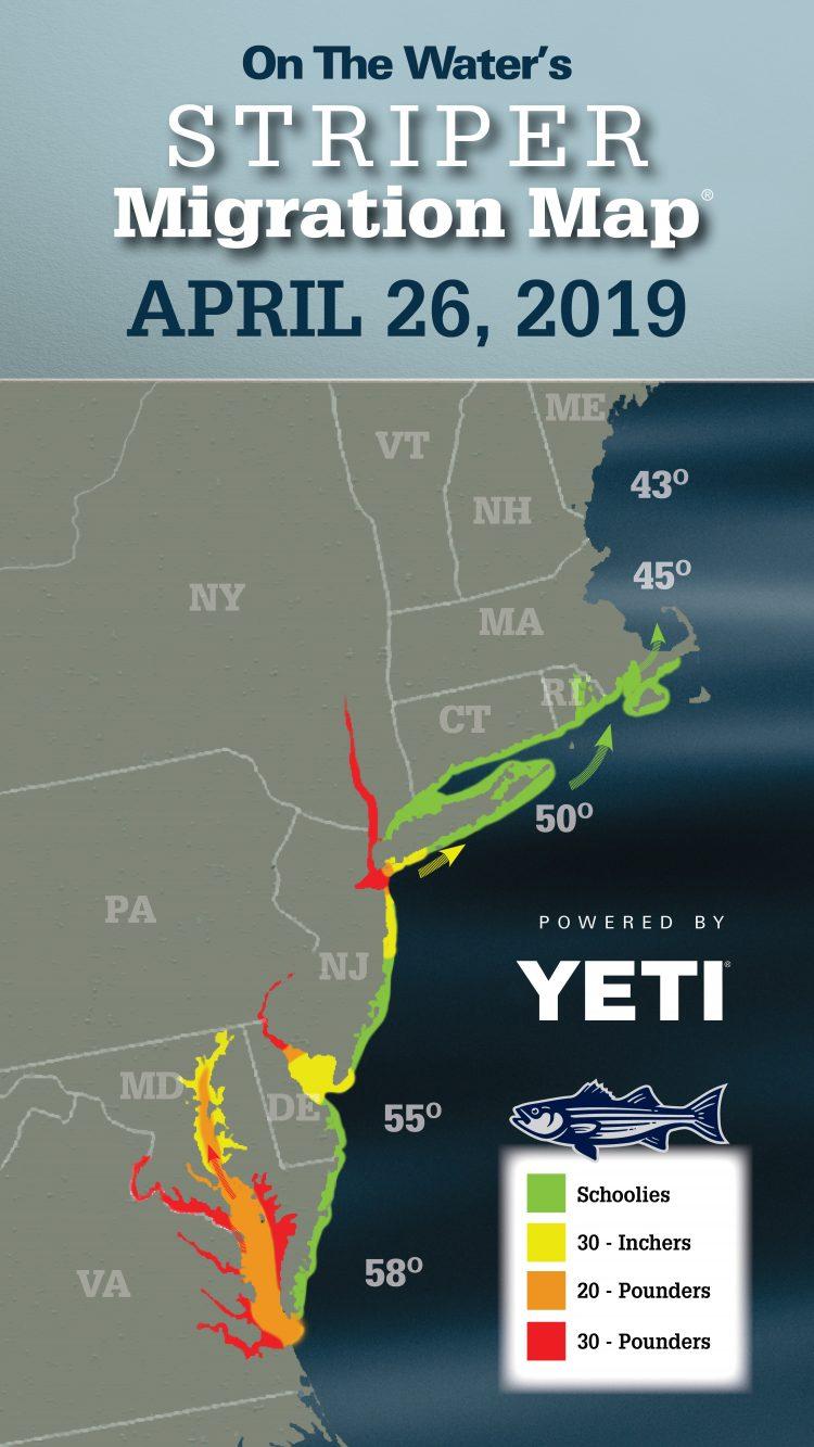 2019 Striper Migration Map