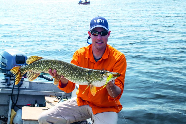 Fly Fishing For Pike in Saskatchewan