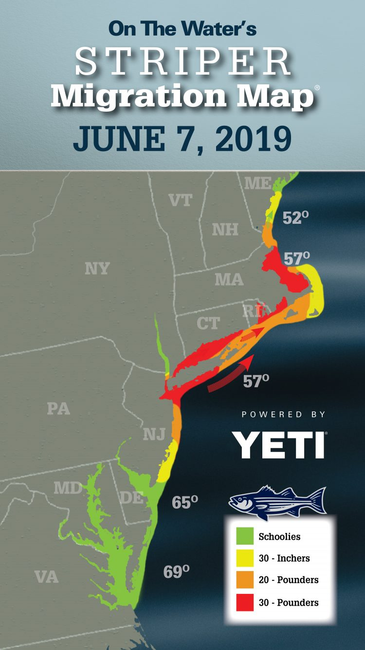 Striper Migration Map