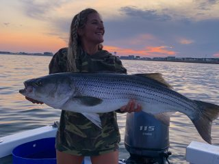 Sunset striped bass